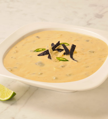 VERVE® Roasted Poblano & White Cheddar Soup with Tomatillos
