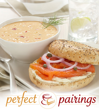 Perfect Pairings: Lobster Bisque with a Smoked Salmon Bagel