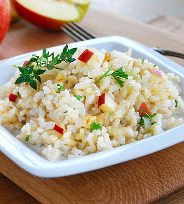 Apple & Brown Rice Pilaf