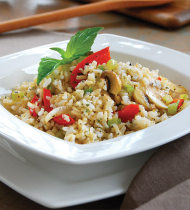 Brown Rice Pilaf with Fresh Veggies