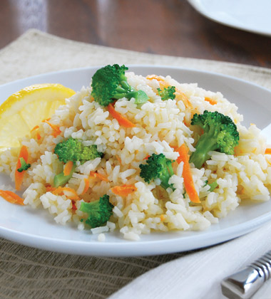 Quick Lemon Broccoli Rice