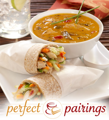 Perfect Pairings: Wicked Thai Soup with a Roasted Chicken Wrap