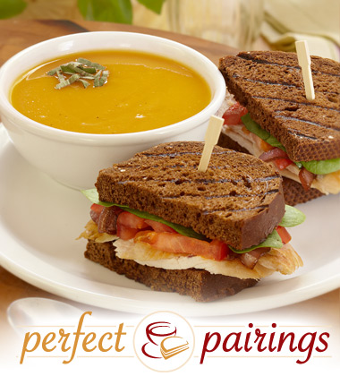 Perfect Pairings: Butternut Squash Soup with a Sliced Turkey Breast Sandwich