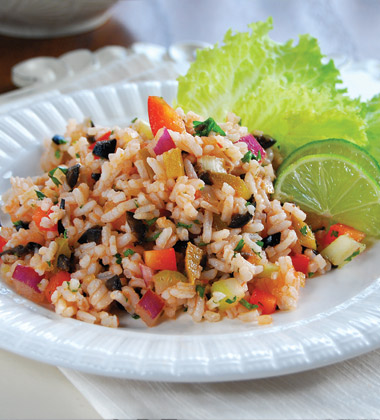 Mexican Rice Salad with Olives