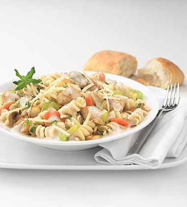 Chicken and Rotini with Mushroom Sauce