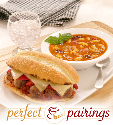 Perfect Pairings: Pasta Fagioli with a Meatball Sandwich