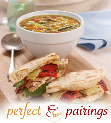 Perfect Pairings: Mediterranean Vegetable Soup with a Chicken Pita Sandwich