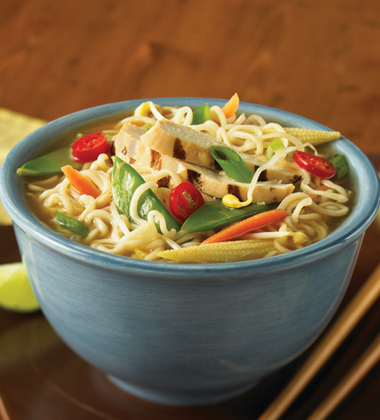 Asian Noodle Bowl with Chicken