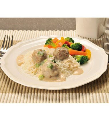 Swedish Meatballs in Mushroom Sauce