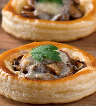 Caramelized Onion, Mushroom and Gruyère Tartlets