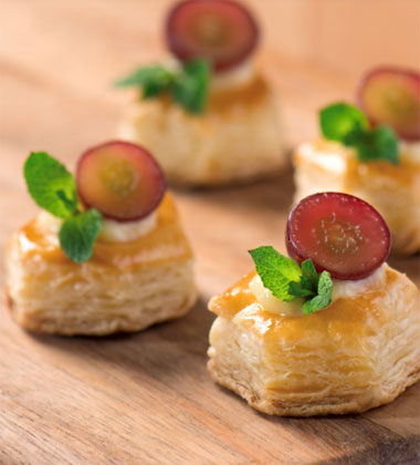 Caramelized Grape Custard Tarts