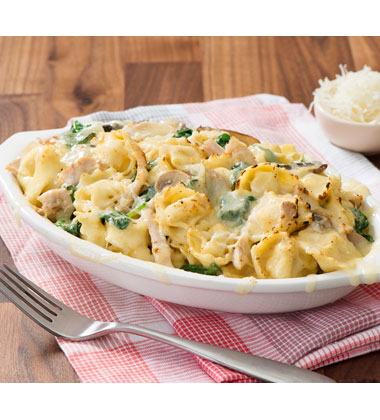 Chicken and Spinach Baked Tortellini
