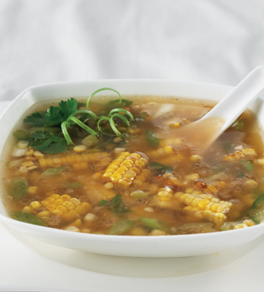 Corn and Ginger Soup