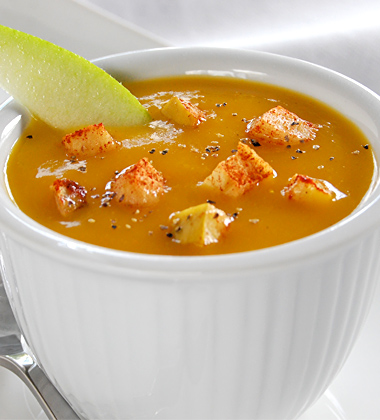 Butternut Squash Soup with Roasted Apples