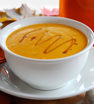 Cream of Carrot Soup with a Touch of Maple