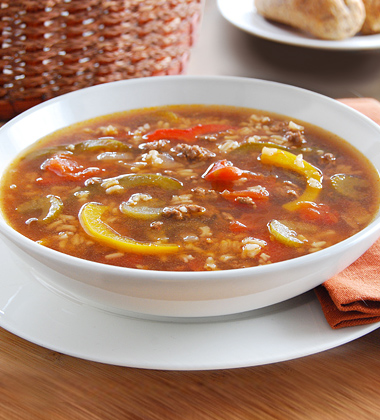 Unstuffed Pepper and Beef Soup
