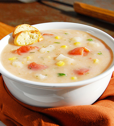 Spicy Corn and Clam Chowder