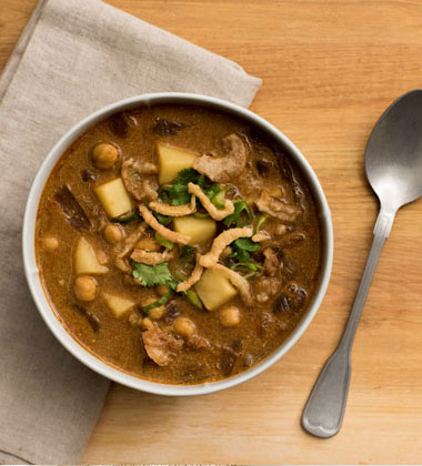 Spicy Indian Stew with Chickpeas and Potatoes