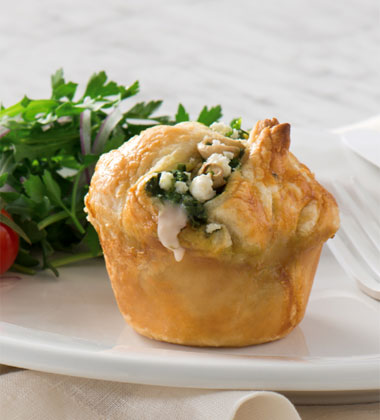 Spinach and Mushroom Puffs