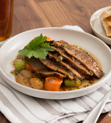 Bourbon and Mustard Braised Brisket