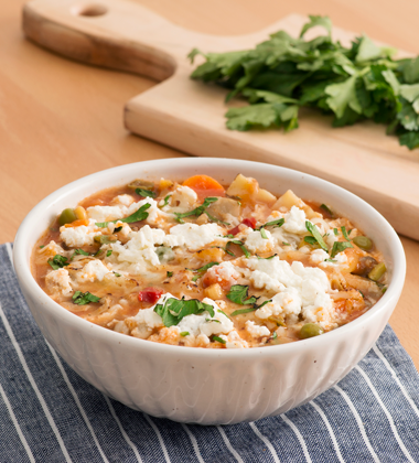 Three-Cheese Vegetarian Lasagne Soup
