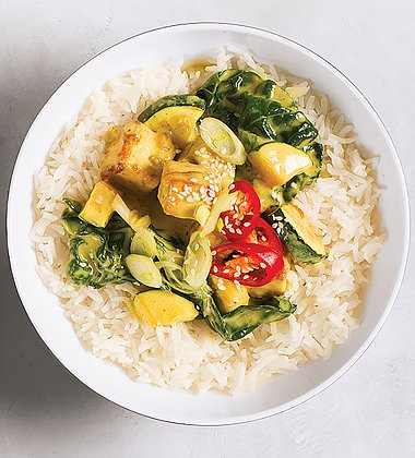 Tofu and Bok Choy Green Curry