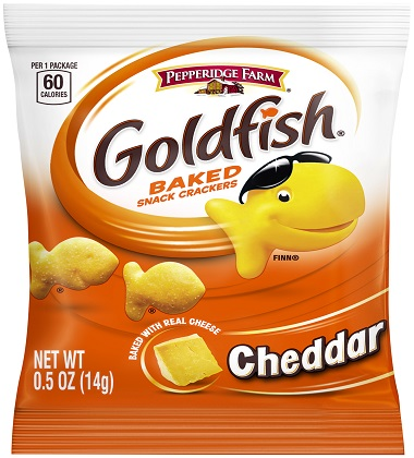 Goldfish snack crackers cheddar campbells food service for Gold fish snacks
