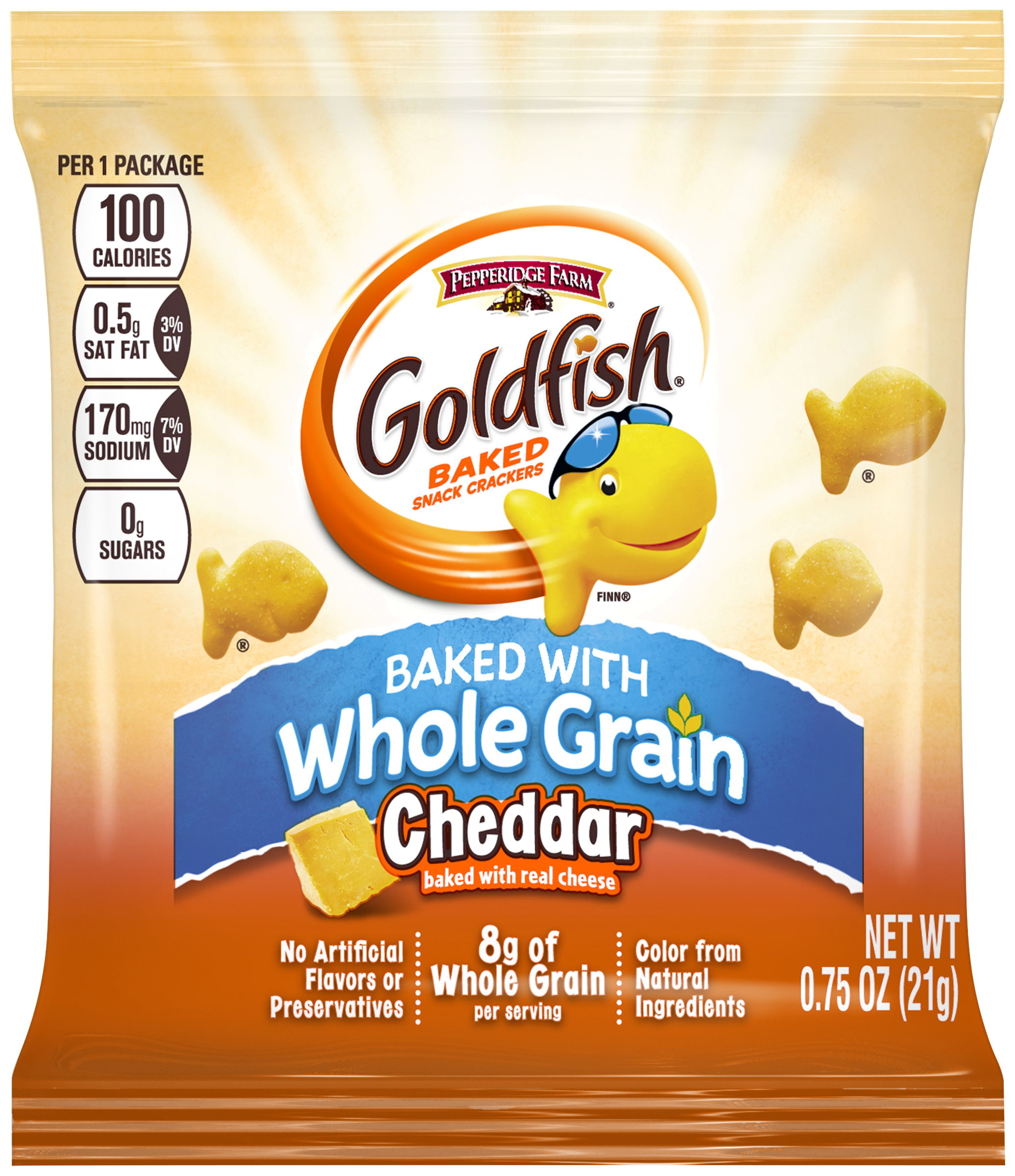 CHEDDAR GOLDFISH® MADE WITH WHOLE GRAIN