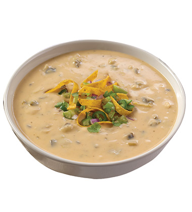 CAMPBELL'S® RESERVE ROASTED POBLANO & WHITE CHEDDAR SOUP WITH TOMATILLOS