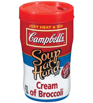 CAMPBELLS SOUP ON THE GO CREAM OF BROCCOLI Campbells Food Service