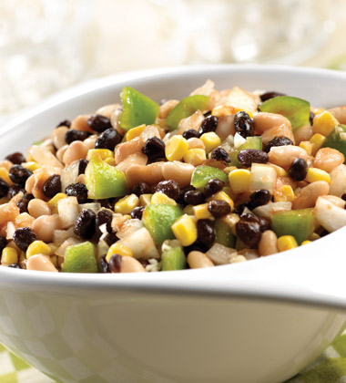 BLACK & WHITE BEAN SALAD MADE WITH LOW SODIUM V8