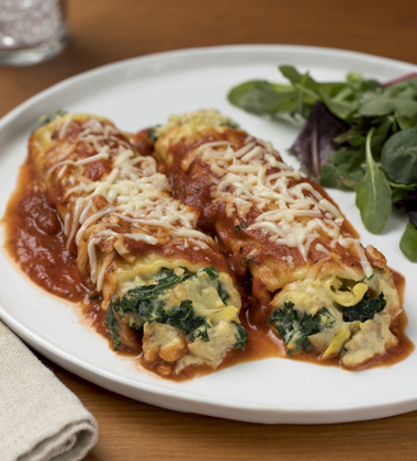CHICKEN AND ARTICHOKE CANNELLONI MADE WITH CAMPBELL'S® HEALTHY REQUEST® CREAM OF CHICKEN SOUP