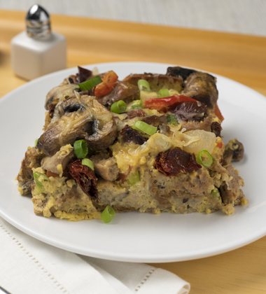 SAVORY CHICKEN & VEGETABLE STRATA MADE WITH CAMPBELL'S® HEALTHY REQUEST® CREAM OF CHICKEN SOUP
