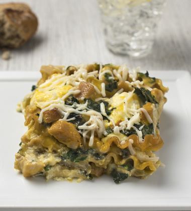 ROASTED CHICKEN & ARTICHOKE LASAGNA MADE WITH KALE MADE WITH CAMPBELLS® HEALTHY REQUEST® CONDENSED C
