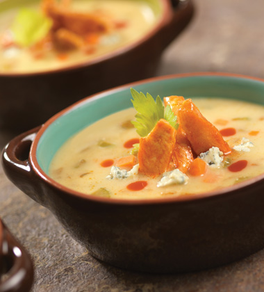 BUFFALO CHICKEN SOUP WITH CAMPBELL'S® HEALTHY REQUEST CREAM OF CHICKEN SOUP (HEALTHCARE)