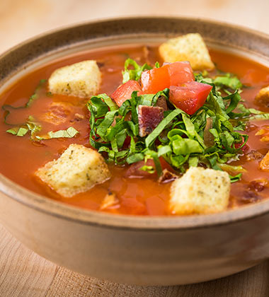 BLT SOUP WITH CAMPBELL'S® TOMATO SOUP