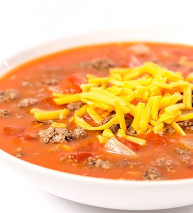 CHEESEBURGER SOUP WITH CAMPBELL'S® HEALTHY REQUEST® TOMATO SOUP (K12)