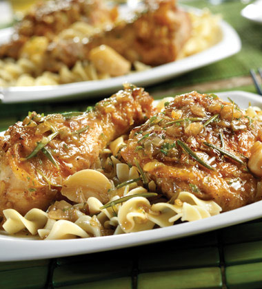 BRAISED CHICKEN WITH GARLIC & ROSEMARY