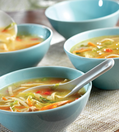 ASIAN VEGETABLE SOUP WITH CAMPBELL'S® HEALTHY REQUEST CHICKEN NOODLE SOUP