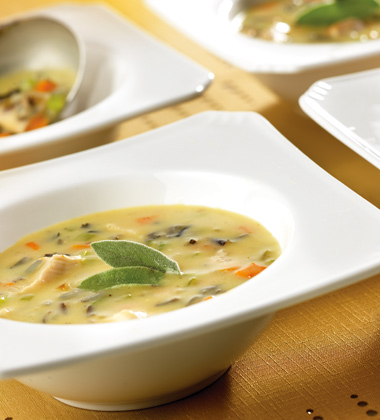 TURKEY, VEGETABLE AND WILD RICE SOUP
