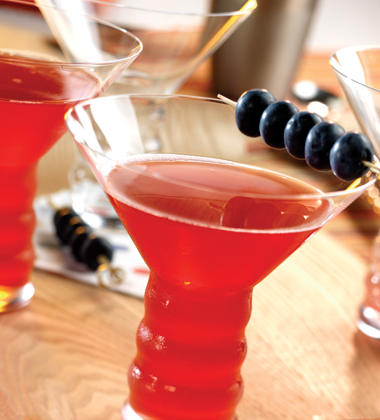 POMEGRANATE BLUEBERRY MARTINI
