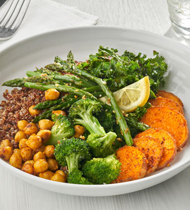 ROASTED VEGETABLE & QUINOA BOWL