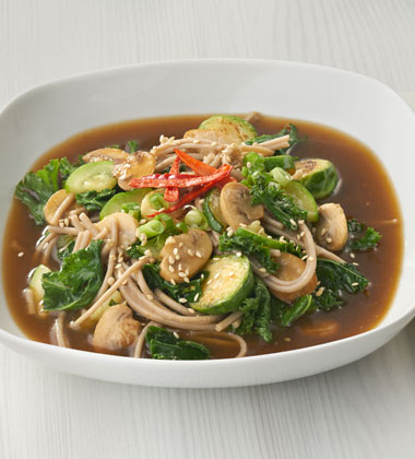 SOBA BOWL WITH KALE & MUSHROOMS (LARGE)