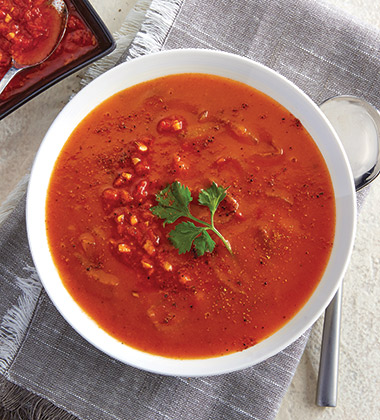 SMOKEY ROASTED TOMATO & HARISSA SOUP MADE WTH CAMPBELL'S® CONDENSED TOMATO SOUP