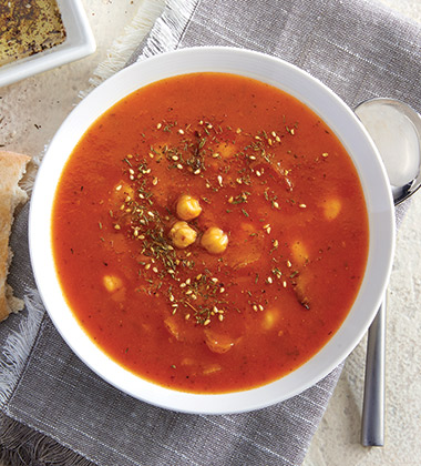 TOMATO ZA'ATAR WITH ROASTED CHICKPEAS MADE WITH CAMPBELL'S® CONDENSED TOMATO SOUP