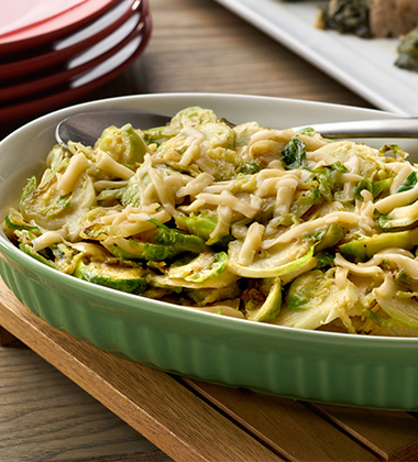 BROWN BUTTER BRUSSELS SPROUT GRATIN MADE WITH CAMPBELL'S® HEALTHY REQUEST® CREAM OF MUSHROOM SOUP