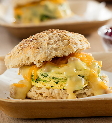 CHICKEN BREAKFAST BISCUIT MADE WITH CAMPBELL'S® HEALTHY REQUEST® CREAM OF CHICKEN SOUP
