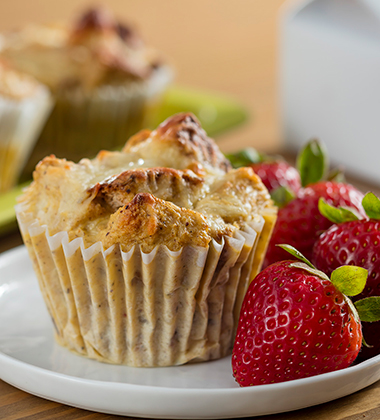 CHICKEN BREAKFAST CASSEROLE MUFFINS MADE WITH CAMPBELL'S® HEALTHY REQUEST® CREAM OF CHICKEN SOUP
