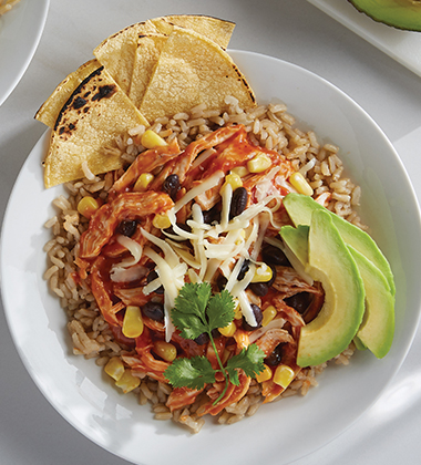 CHICKEN TINGA BOWL MADE WITH CAMPBELL'S® CONDENSED TOMATO SOUP