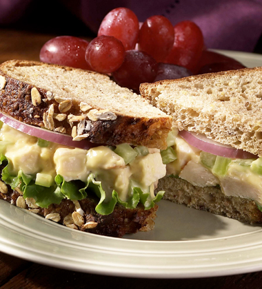 CREAMY ROAST CHICKEN SALAD SANDWICH